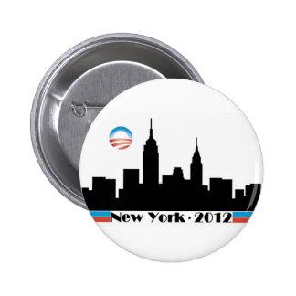 Horizon 2012 d'Obama New York City Badge Rond 5 Cm