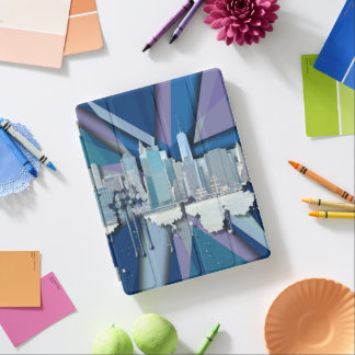 Horizon | 3D bleu de New York City Protection iPad