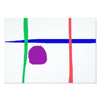 Horizon bleu carton d'invitation  12,7 cm x 17,78 cm