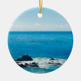 horizon côtier de roche ornement rond en céramique