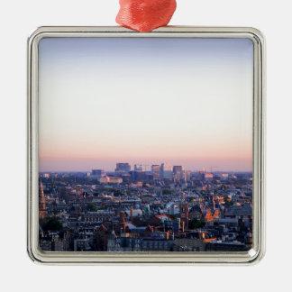 Horizon d'Amsterdam Pays-Bas Ornement Carré Argenté