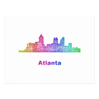 Horizon d'Atlanta d'arc-en-ciel Cartes Postales