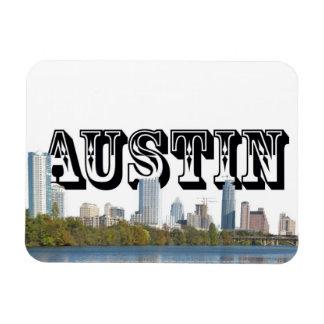 Horizon d'Austin le Texas avec Austin dans le ciel Magnets