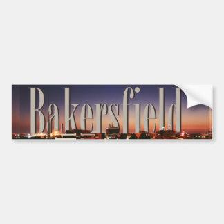 Horizon de Bakersfield avec Bakersfield dans le ci Autocollant De Voiture