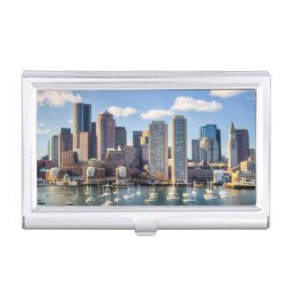 Horizon de Boston de bord de mer Boîtier Pour Cartes De Visite