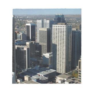 Horizon de Calgary Canada Bloc-note