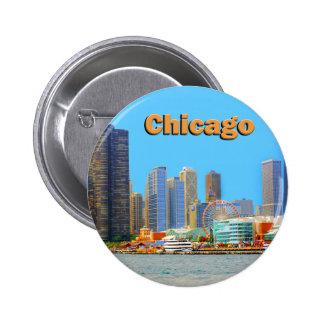 Horizon de Chicago au pilier de marine Badge