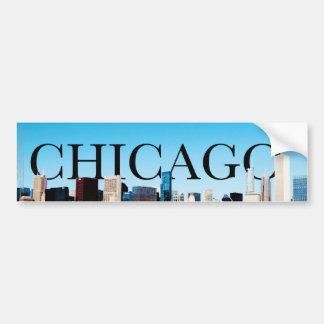 Horizon de Chicago avec CHICAGO dans le ciel Autocollant De Voiture