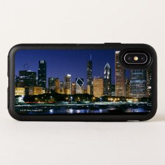 Horizon de Chicago du centre la nuit