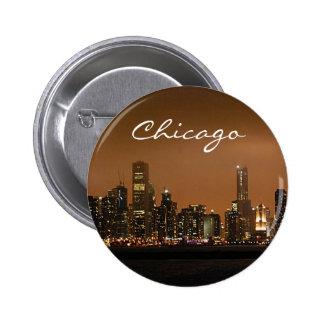 Horizon de Chicago la nuit au pilier de marine Pin's