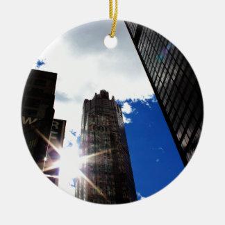 Horizon de Chicago Ornement Rond En Céramique