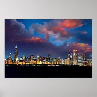 Horizon de Chicago Poster
