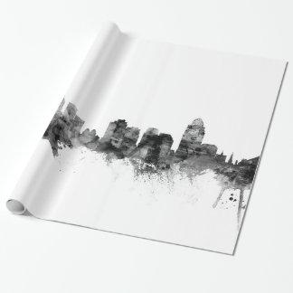 Horizon de Cincinnati Ohio Papier Cadeau Noël