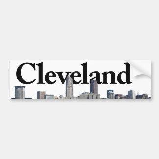 Horizon de Cleveland Ohio avec Cleveland dans le Autocollant De Voiture