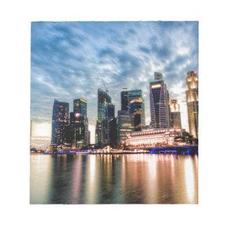 Horizon de crépuscule de Singapour Bloc-note