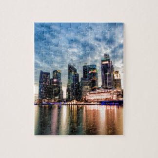 Horizon de crépuscule de Singapour Puzzle