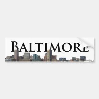 Horizon de DM de Baltimore avec Baltimore dans le  Autocollant Pour Voiture