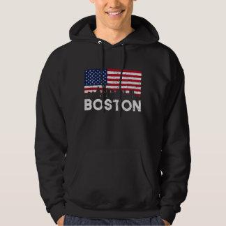 Horizon de drapeau américain de Boston mA affligé Veste À Capuche