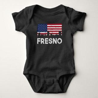 Horizon de drapeau américain de Fresno CA affligé Body