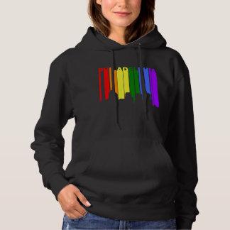 Horizon de gay pride de Philadelphie Pennsylvanie Pull À Capuche