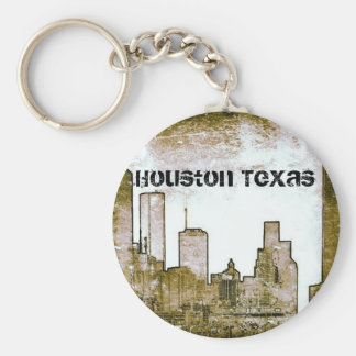 Horizon de Houston le Texas [art] (porte - clé) Porte-clés