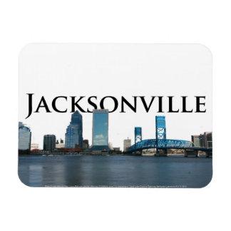 Horizon de Jacksonville FL avec Jacksonville dans Magnets Souples