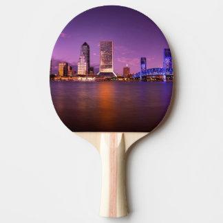 Horizon de Jacksonville la Floride la nuit Raquette Tennis De Table