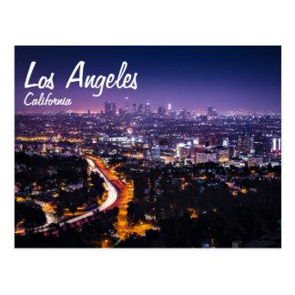Horizon de Los Angeles, la Californie la nuit Carte Postale