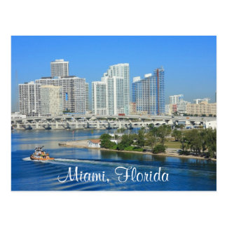 Horizon de Miami la Floride et carte postale de