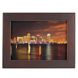 Horizon de Miami la nuit, la Floride Boîte À Souvenirs
