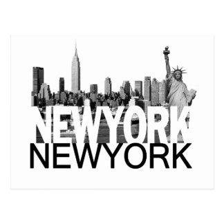 Horizon de New York Carte Postale