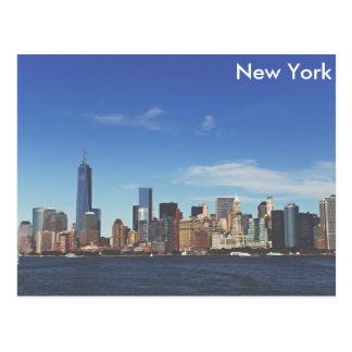 Horizon de New York City Carte Postale