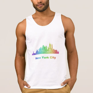 Horizon de New York City d'arc-en-ciel