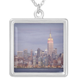 Horizon de New York City Pendentif Carré
