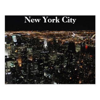 Horizon de New York la nuit Cartes Postales