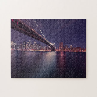 Horizon de New York la nuit Puzzle