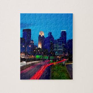 Horizon de nuit de Minneapolis Puzzle