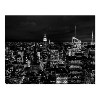 Horizon de nuit de New York City Carte Postale
