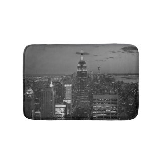 Horizon de nuit de New York City Tapis De Bain