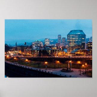 Horizon de nuit de Portland Poster
