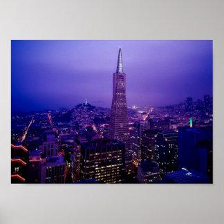 Horizon de nuit de San Francisco Poster