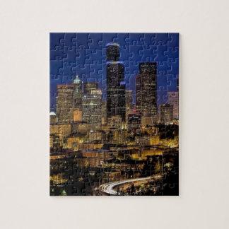 Horizon de nuit de Seattle Puzzle