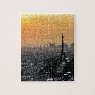 Horizon de Paris pendant le matin Puzzle