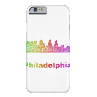 Horizon de Philadelphie d'arc-en-ciel Coque Barely There iPhone 6