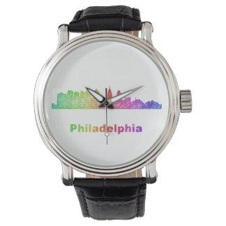 Horizon de Philadelphie d'arc-en-ciel Montres