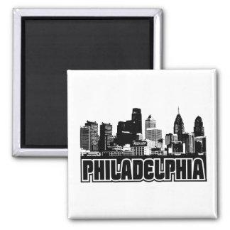 Horizon de Philadelphie Magnet Carré
