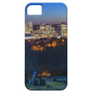 Horizon de Pittsburgh au coucher du soleil Étuis iPhone 5