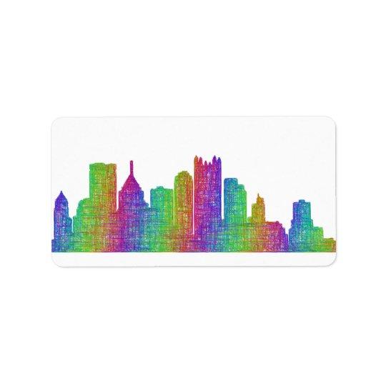 Horizon de Pittsburgh Étiquette D'adresse