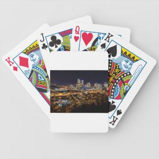 Horizon de Pittsburgh la nuit Jeux De Cartes