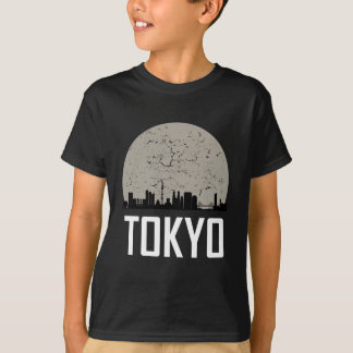 Horizon de pleine lune de Tokyo T-shirt